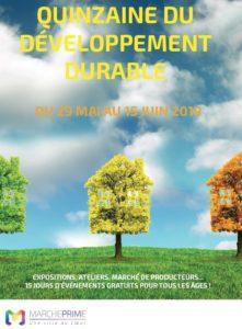 Affiche Quinzaine du Développement Durable à Marcheprime du 29 mai au 15 juin 2019