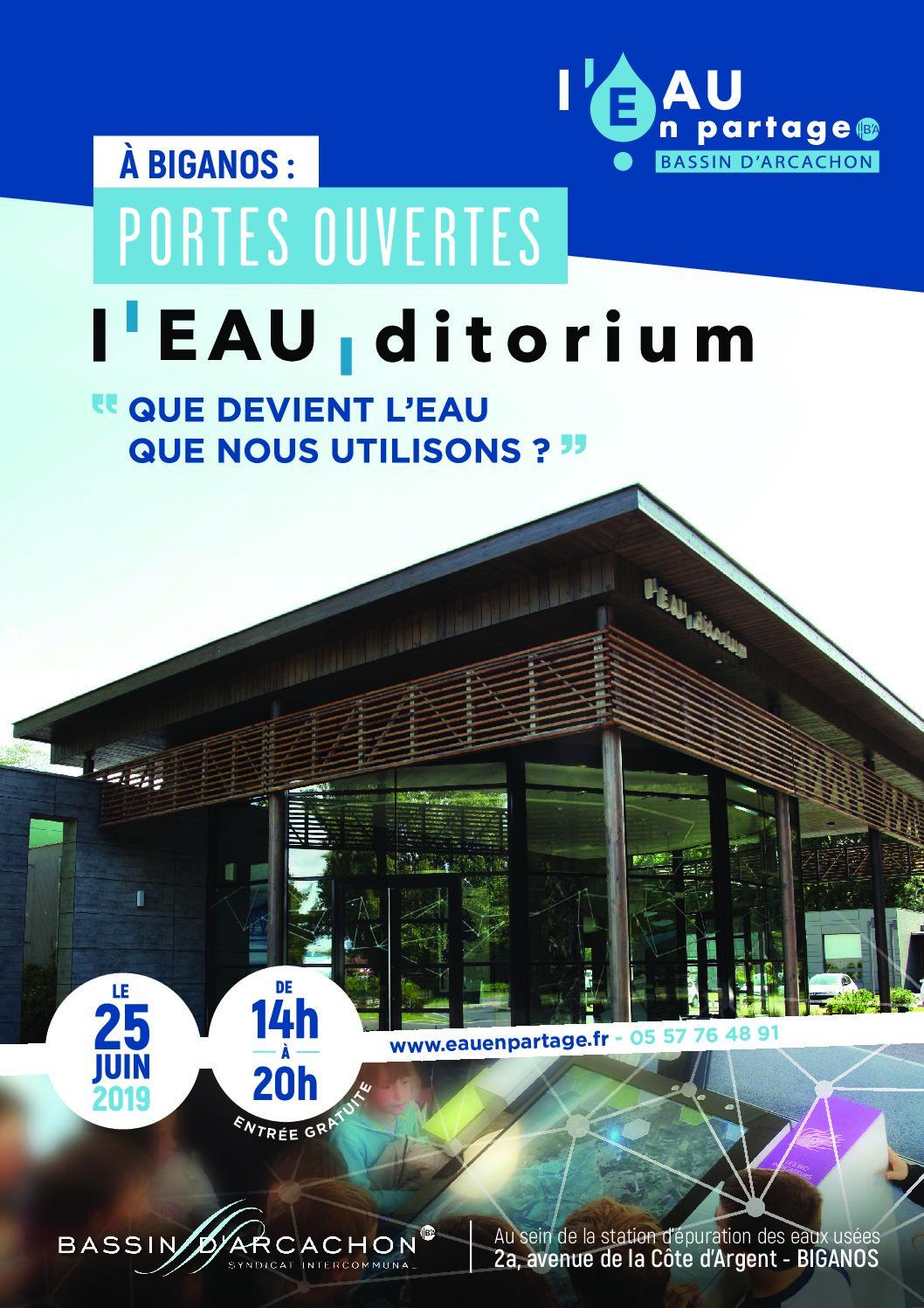 Portes Ouvertes à l'Eau'ditorium de Biganos le 25 juin