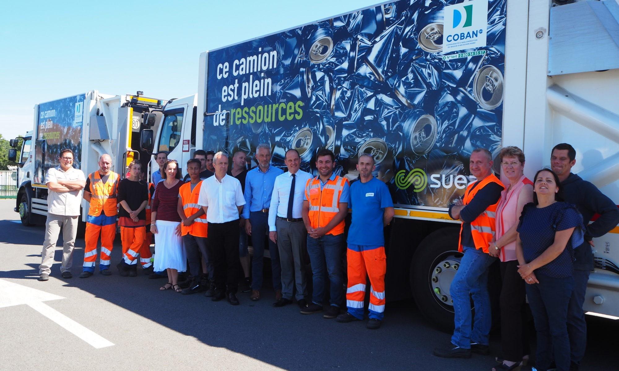 """Nouveau covering 2019 des camions-bennes de la COBAN """"ce camion est plein de ressources"""""""