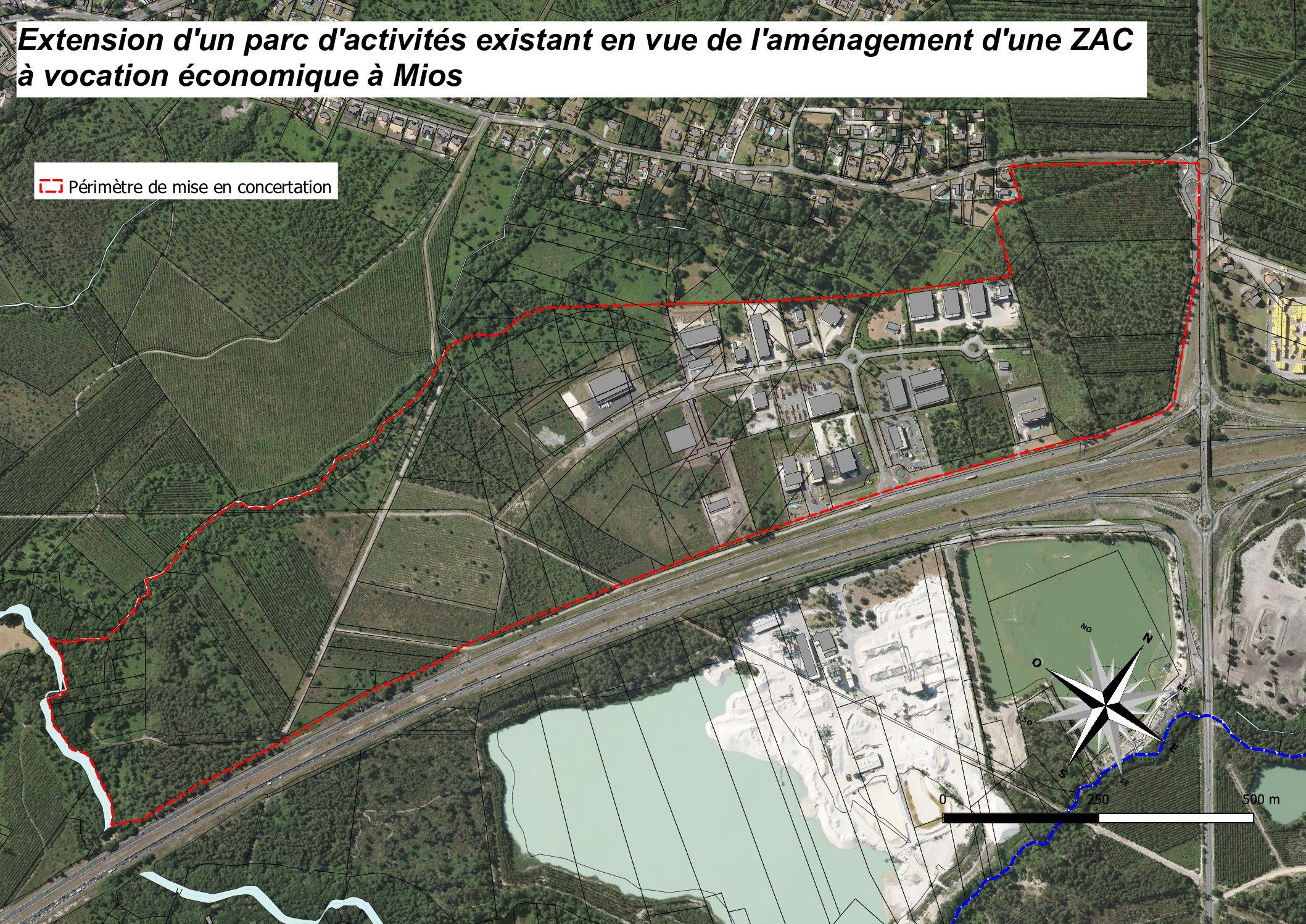 Concertation autour de l'extension du parc d'activités Mios Entreprises