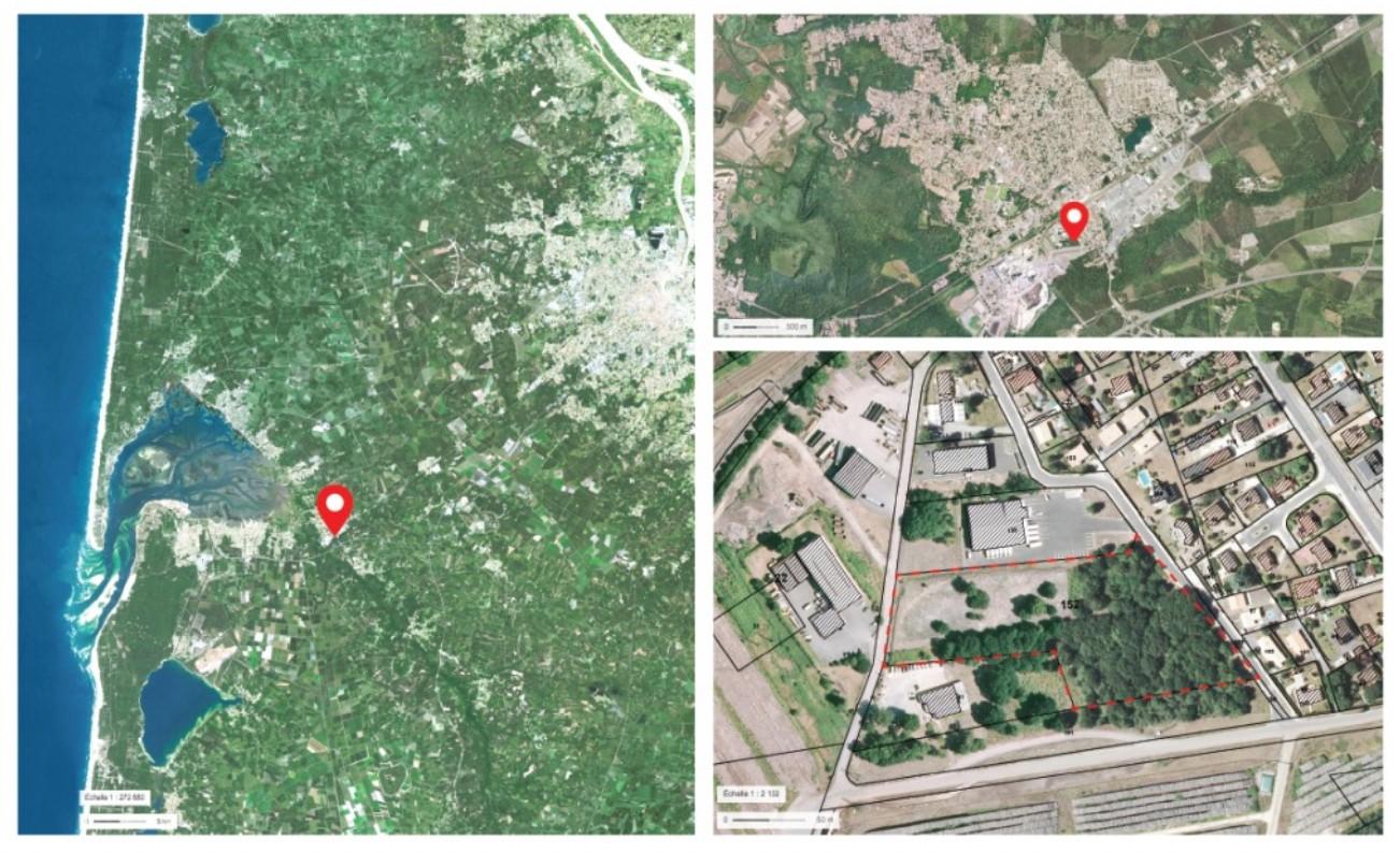 Plan de situation de la zone de Carrerot à Biganos