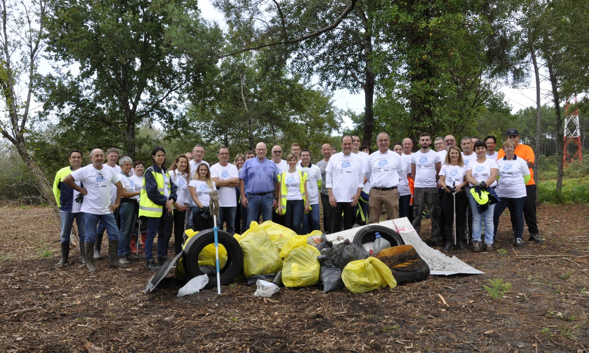 Participation de la COBAN au World Clean Up Day de Smurfit Kappa