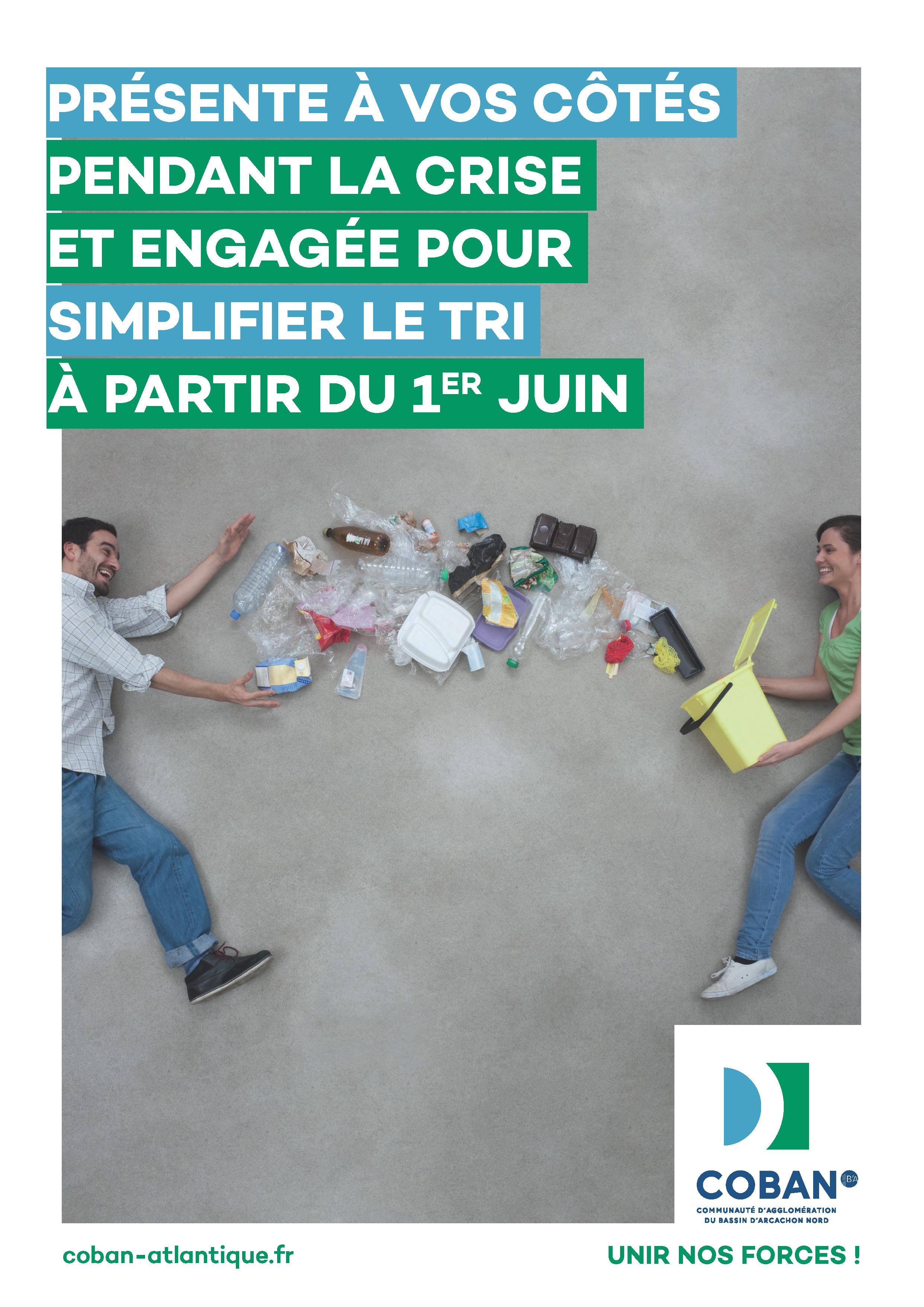 Campagne COBAN Simplification du tri des déchets - 1er juin 2020