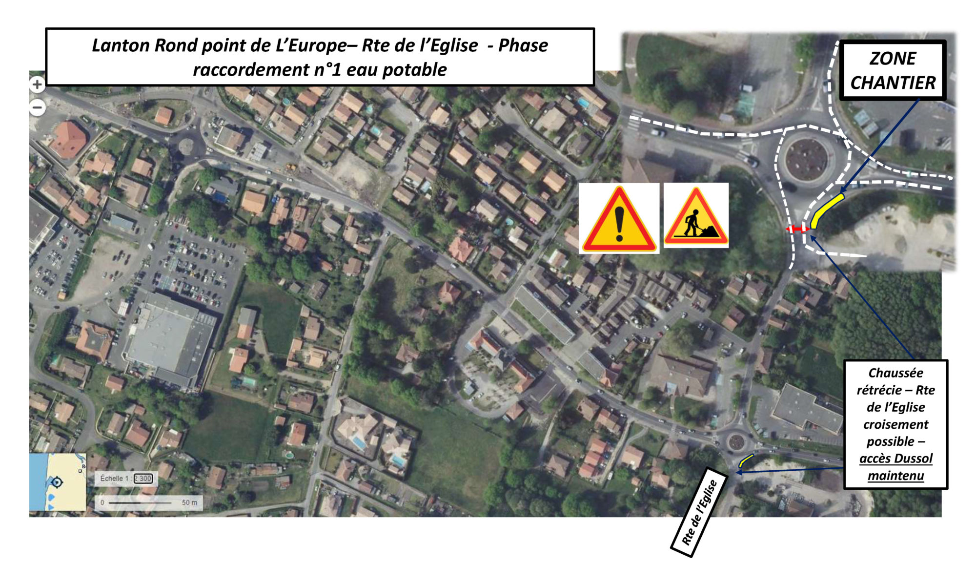 Raccordements rond-point de l'Europe - phase 1