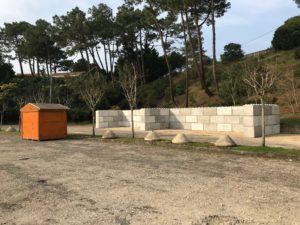 Installation Déchèterie temporaire pour Déchets verts à La Vigne / LÈGE-CAP FERRET