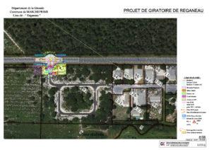 Plan d'aménagement du giratoire de Réganeau à Marcheprime