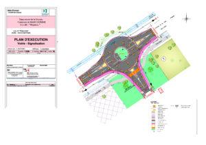 Plan d'exécution du giratoire de Réganeau à Marcheprime